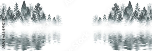 Winter abstract landscape Fototapeta