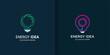 Energy idea logo template with diferent element concept Premium Vector