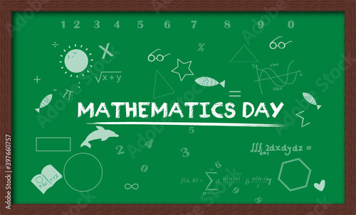 Fototapety, obrazy: National Mathematics Day 22 december which is observed on Birth anniversary of Srinivasa Ramanujan