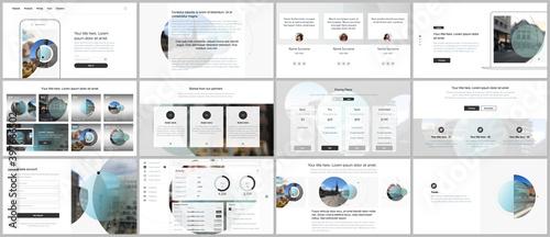 Fotografía Presentation design vector templates, multipurpose template for presentation slide, flyer, brochure cover design with abstract circle banners