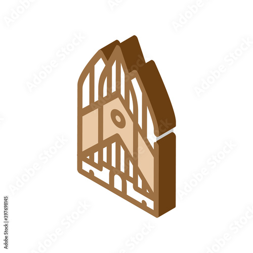 Obraz na plátne grundtvig church isometric icon vector illustration color