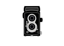 TLR Film Camera Isolated On White