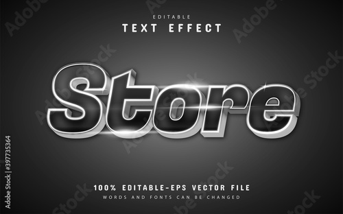 Fototapeta Store text effect with silver color obraz