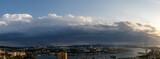 Vladivostok cityscape at sunset view.