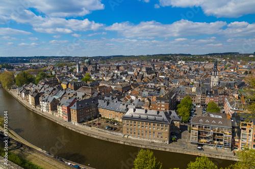 Canvas Print Town Namur in Belgium