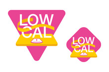 Low Cal Food Icon - Word Stands On Weight Scales