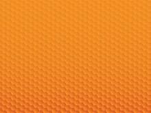 六角形の模様が並ぶオレンジ色の抽象背景イラスト