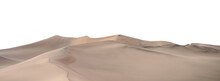 Sand Dunes At  Isolated On White Background