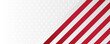 Red and white geometric corporate ribbon flag banner design