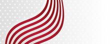 Background With USA Painted Flag And Red White Color