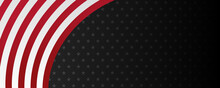 Independence Day Abstract Background With Elements Of The American Flag In Red And White Black Colors