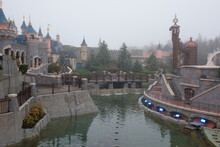 Disneyland Paris In Heavy Snow