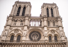 Notre Dame Cathedral On A Winter Day