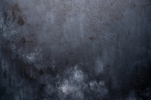 Dark Background Made Of Wood With Imitation Of Light Chalk Stains For Design