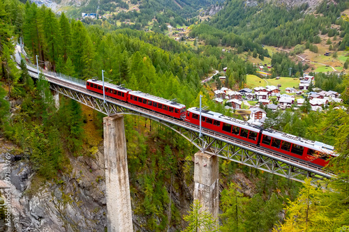 Fototapeta Zermatt, Switzerland. Gornergrat train obraz na płótnie