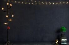 Loft Style Floor Lamp Old Wall