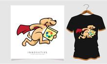 Dog Running Classic T-shirt, Dog T Shirt Images, Stock Photos And Vectors