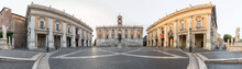 Panoramic View Of The Square At Capitoline Hill During Sunrise, Rome, Italy