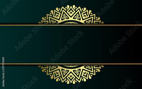 Tableau sur Toile Luxury ornamental mandala background with arabic islamic east pattern style prem