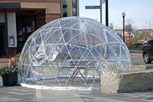 Coronavirus Weatherproof Outside Dining Dome Or Igloo In New England Near Boston