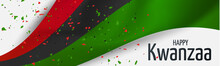 Kwanzaa Banner. Traditional African American Ethnic Holiday Design Concept. Green, Red, And Black Colors. Vector Illustration.