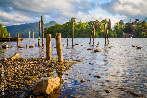 On the shore of Derwent water in Keswick,  Lake district,  Cumbria,  United King Fototapete