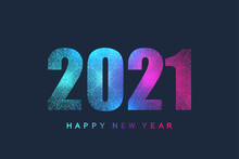 Futuristic Technology Template Text Design Christmas And Happy New Year 2021. Graphic Background Communication 2021. Design Element For Presentations, Postcard, Flyer, Leaflet And Poster, Vector.