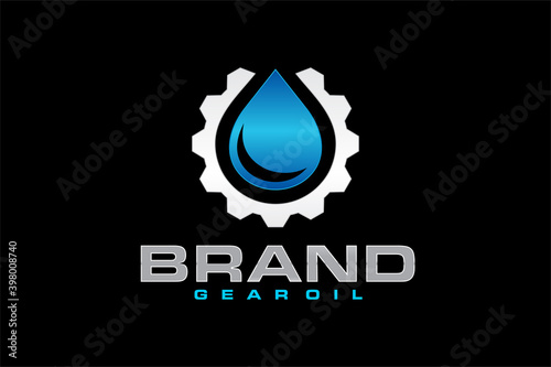 Fotografija oil gear setting logo