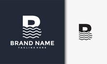 Initials B Wave Logo