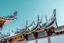 Chinese Traditional Temple Roofs Are Very Popular In Fujian.