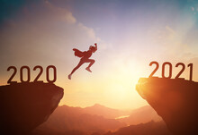 Child Jumping Between 2020 And 2021