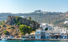 The Monastery Of St.John View From Sea In Patmos Island