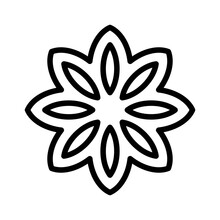 Star Anise Icon, Christmas Food And Drink Vector