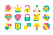 Collection Different Creative Design Set Icon