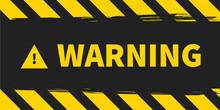 Warning Background. Vector Illustration. Yellow Black Stripes.
