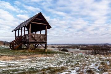 Początek zimy w Dolinie Biebrzy, Podlasie, Polska