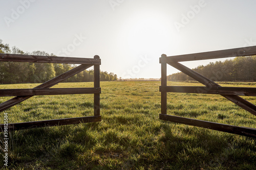 Fototapeta wood field fence