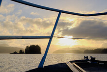 Majesty Of Knight Inlet.  Early Morning Arrival By Boat. BC