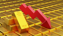 Three D Render Of Gold Brick Gold Bar With Graph Financial Concept