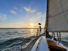 Sailboat Sailing In San Diego Bay