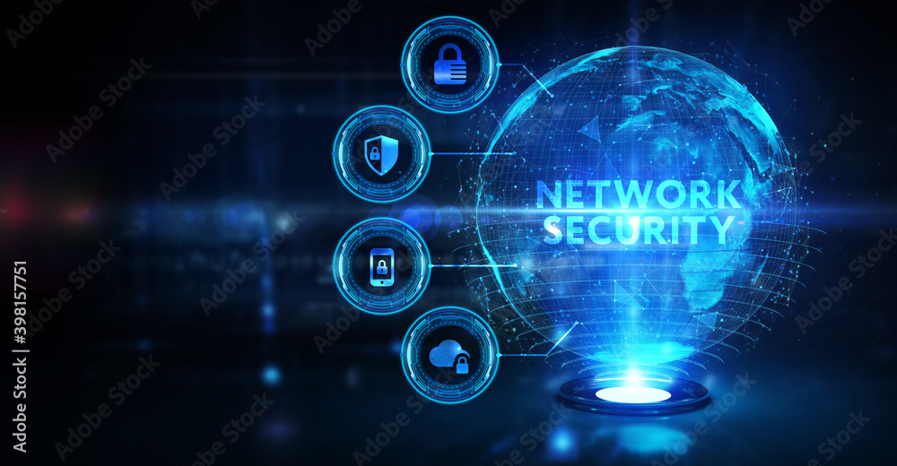 Fototapeta Cyber security data protection business technology privacy concept. Network security