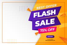 Flash Sale Discount Banner Promotion Background