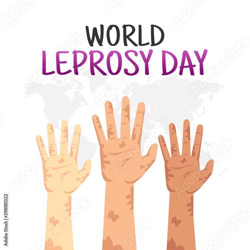 Photo vector graphic of world leprosy day good for world leprosy day celebration