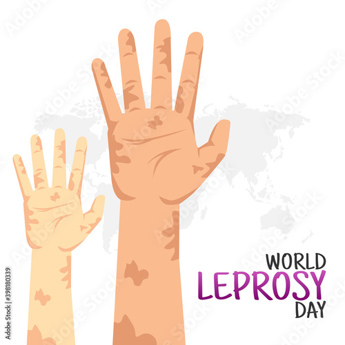 Fototapeta vector graphic of world leprosy day good for world leprosy day celebration