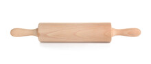 Rolling Pin On White Background