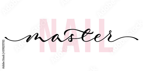 Fotografering Nail master - hand lettering with font design
