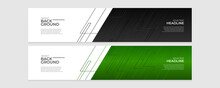 Colorful Banner Template. Abstract Web Banner Design. Header, Landing Page Web Design Elements.