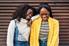 Cheerful Black Female Friends