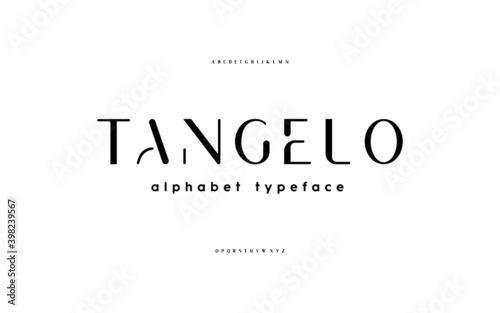 Valokuva Stencil san serif, alphabet, uppercase letters, typography