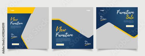 Obraz Furniture social media post templates  - fototapety do salonu